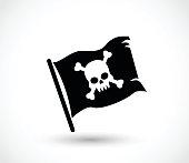 Pirate flag icon vector illustration