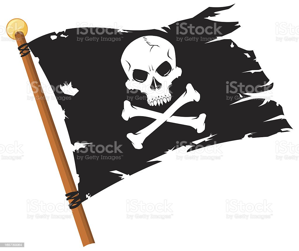 pirate flag jolly roger stock vector art more images of black