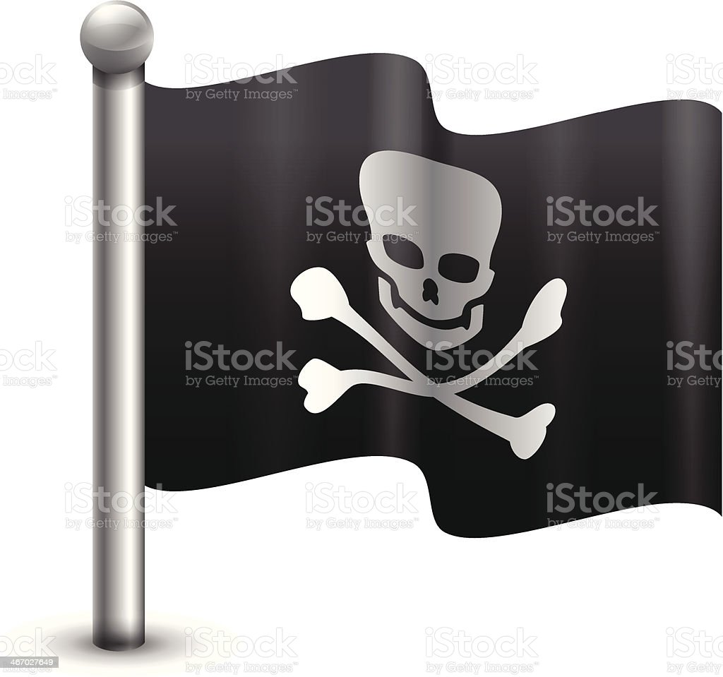 Pirate Flag royalty-free stock vector art