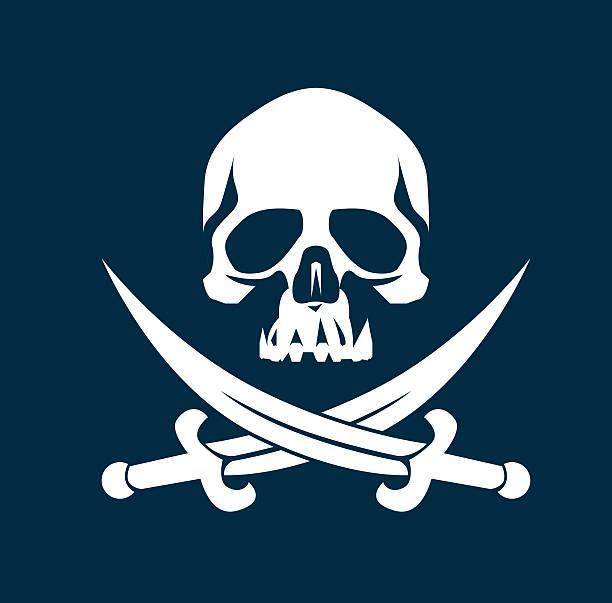 pirate flag - pirates stock illustrations, clip art, cartoons, & icons