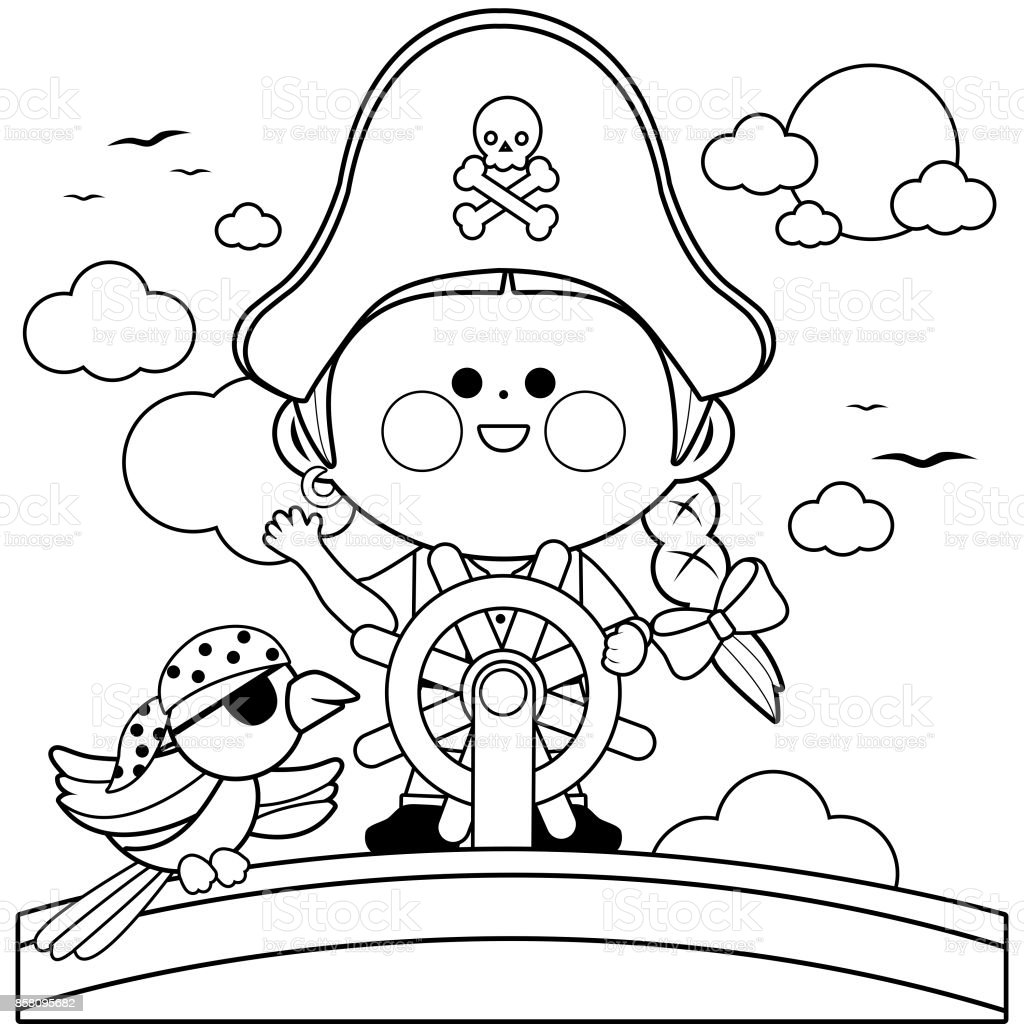 Coloring Page Pirate Ship Free Pages – hallucina | 1024x1024