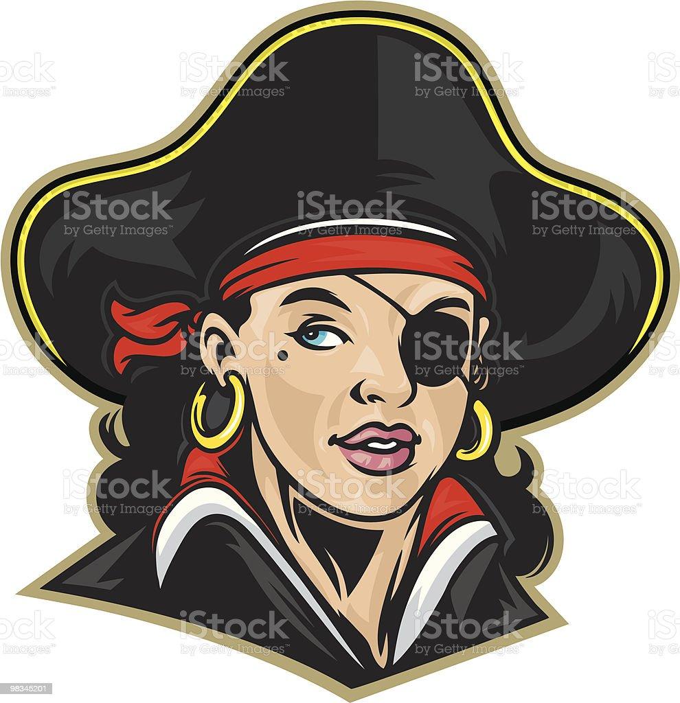 Ragazza Pirata ragazza pirata - immagini vettoriali stock e altre immagini di adulto royalty-free