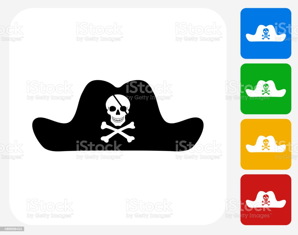 02797b49 Pirate Hat Icon Flat Graphic Design Stock Vector Art & More Images ...