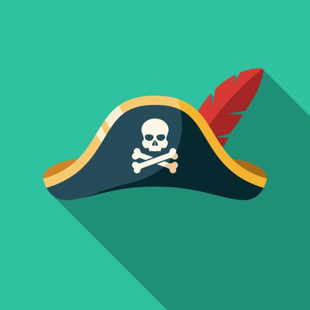 piraten hut icon - matrosenmütze stock-grafiken, -clipart, -cartoons und -symbole