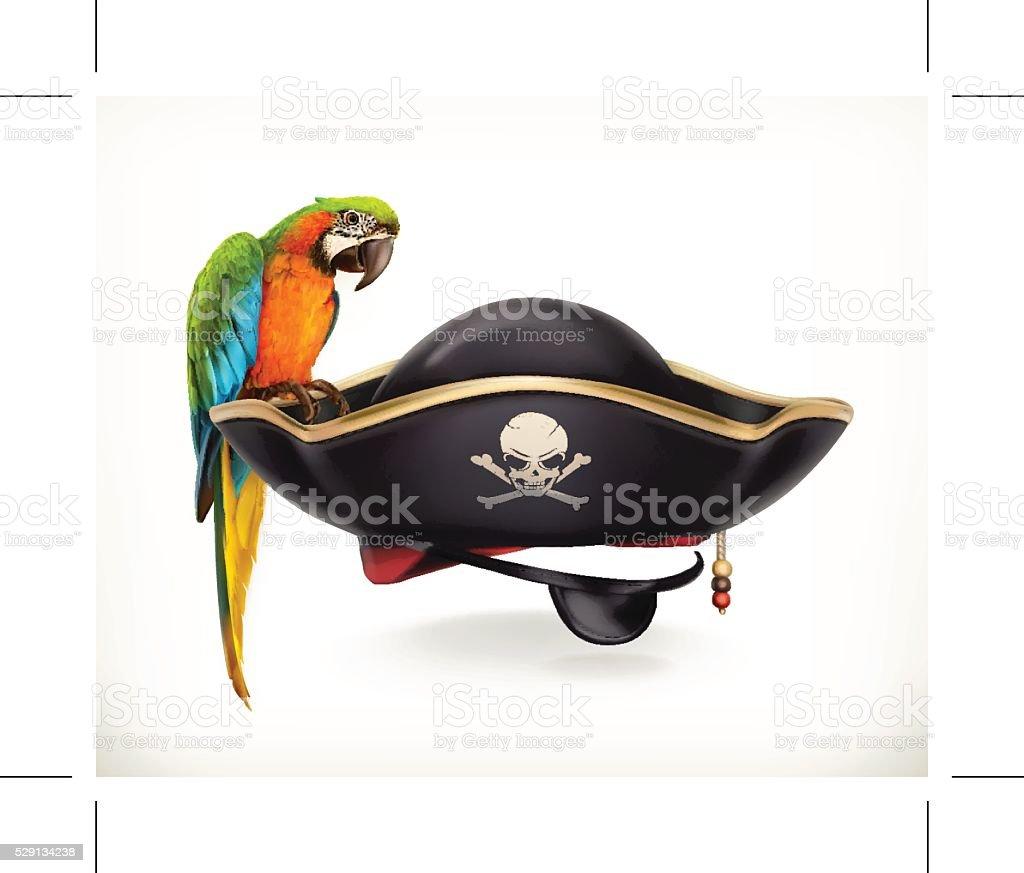 Pirate hat icon vector art illustration