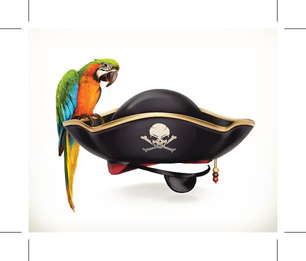 pirate hat icon - pirates stock illustrations, clip art, cartoons, & icons