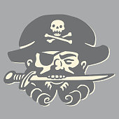 istock Pirate Holding Knife in Teeth 530601723