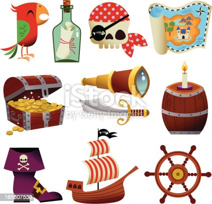 Cute Elements of piracy and maritime subjects.