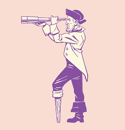 Pirate Looking Through a Telescope