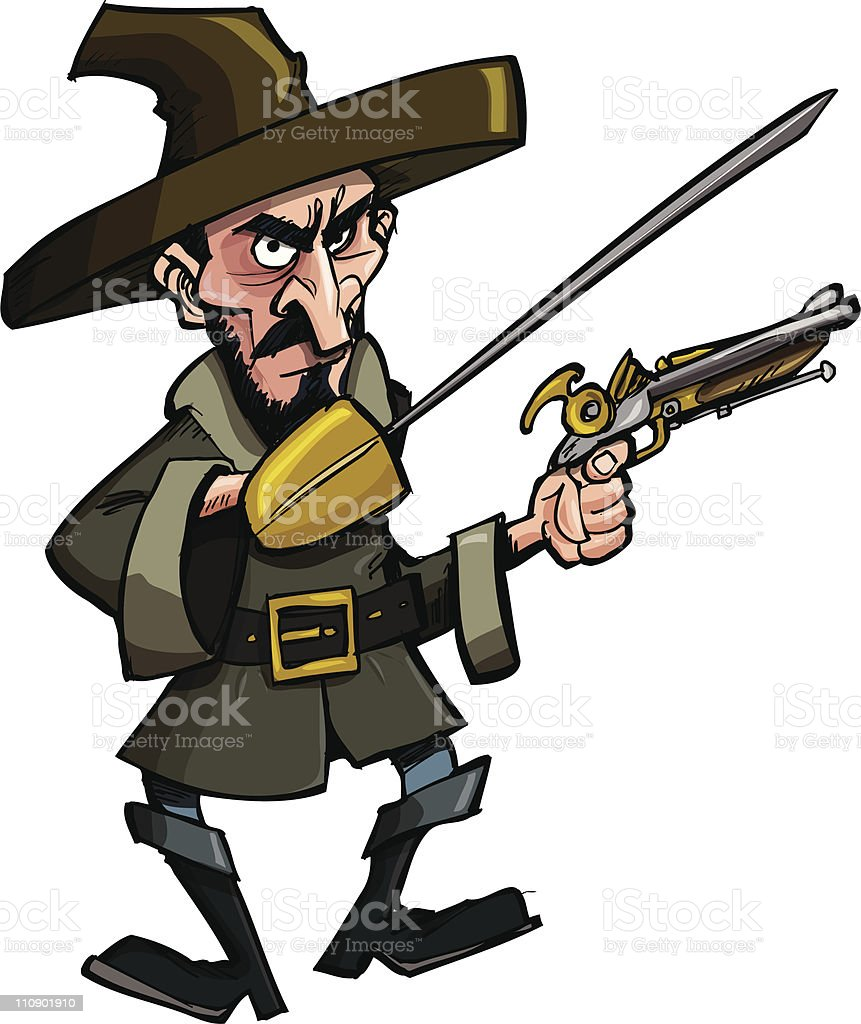 pirate or bandit with a musket stock vector art & more images of