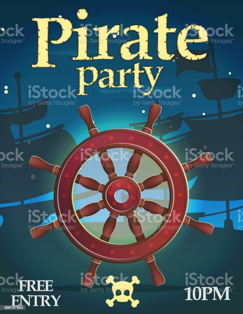 pirate party invitation template stock vector art more images of