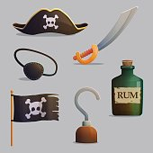 Pirate ship accessories collection