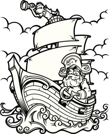 Гинекологом картинками, картинки с пиратскими кораблями черно белые