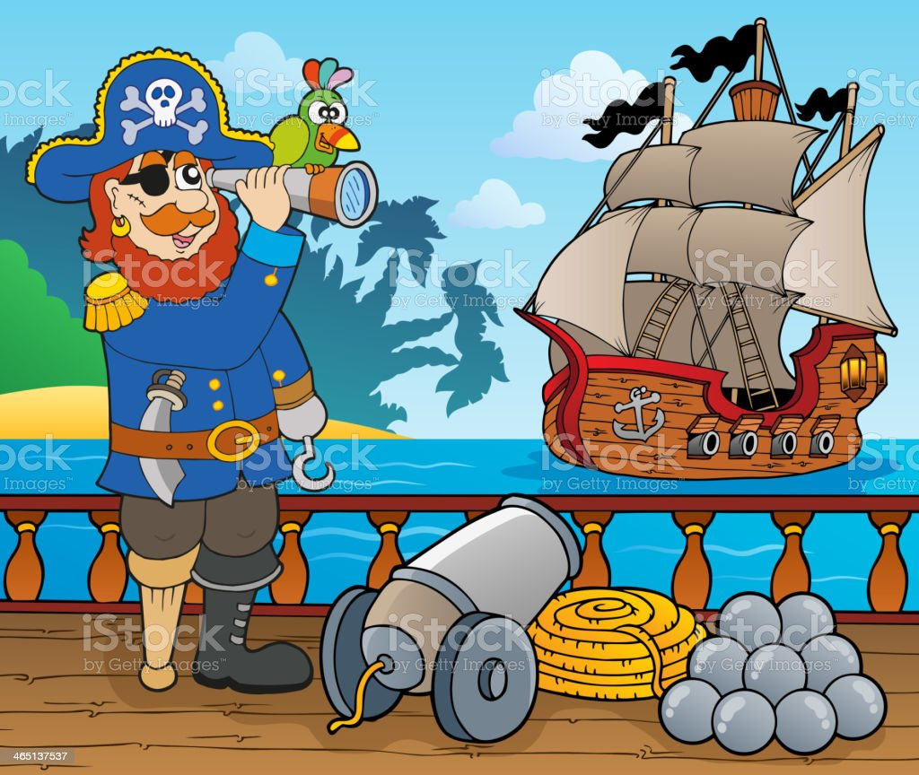 pirate ship deck topic 1 stock vector art 465137537 istock