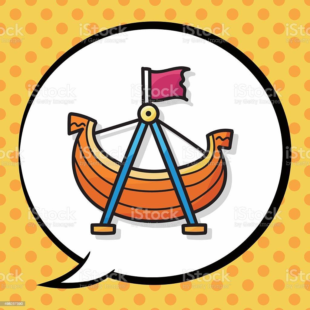Pirate Ship Doodle Speech Bubble Stock Vector Art & More
