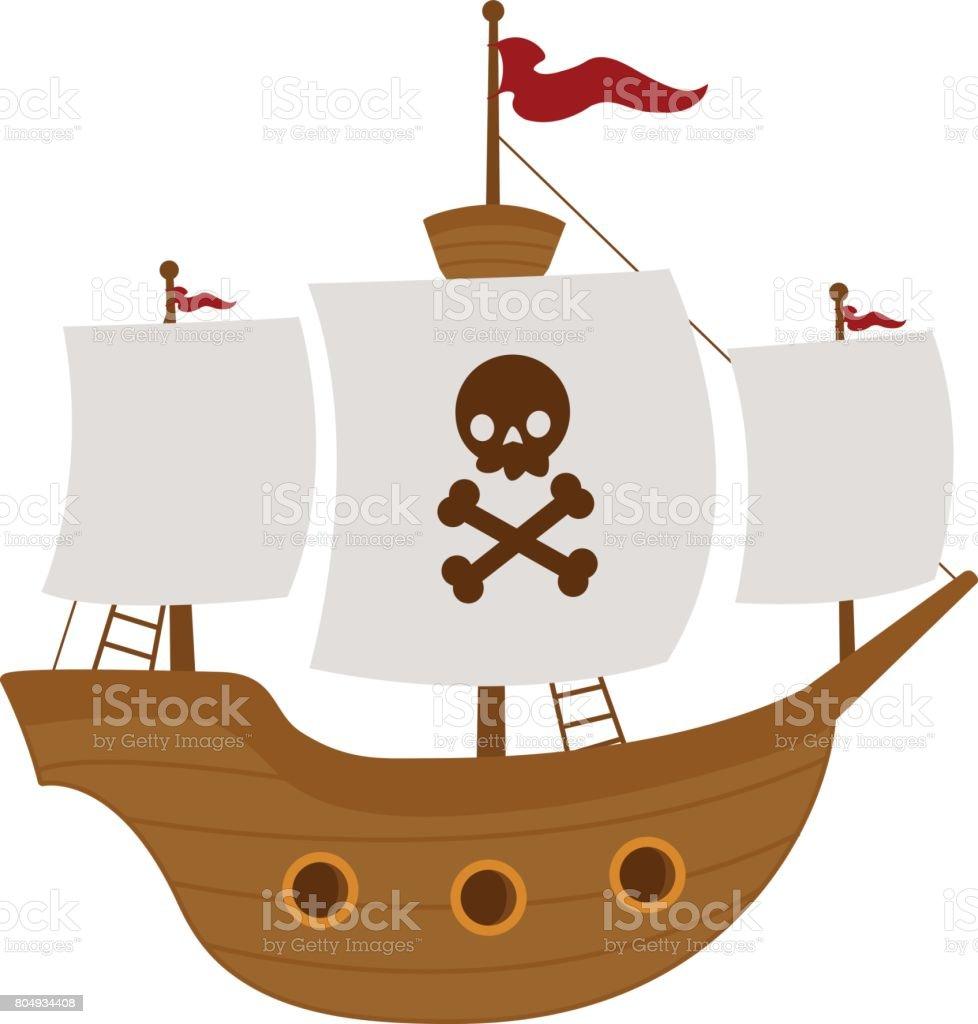 Korsan Gemisi Stok Vektör Sanatı Animasyon Karakternin Daha Fazla