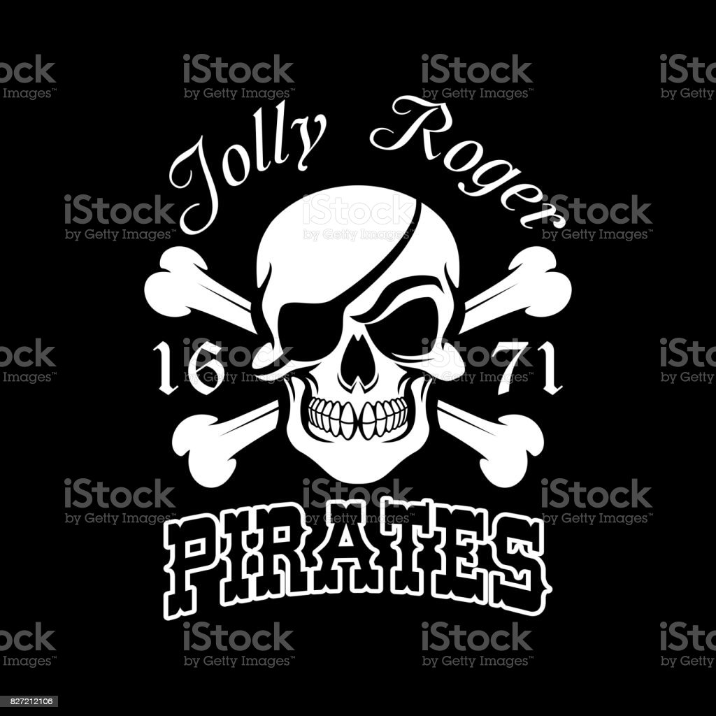 Pirate skull and crossbones jolly roger symbol stock vector art pirate skull and crossbones jolly roger symbol royalty free pirate skull and crossbones jolly buycottarizona Images