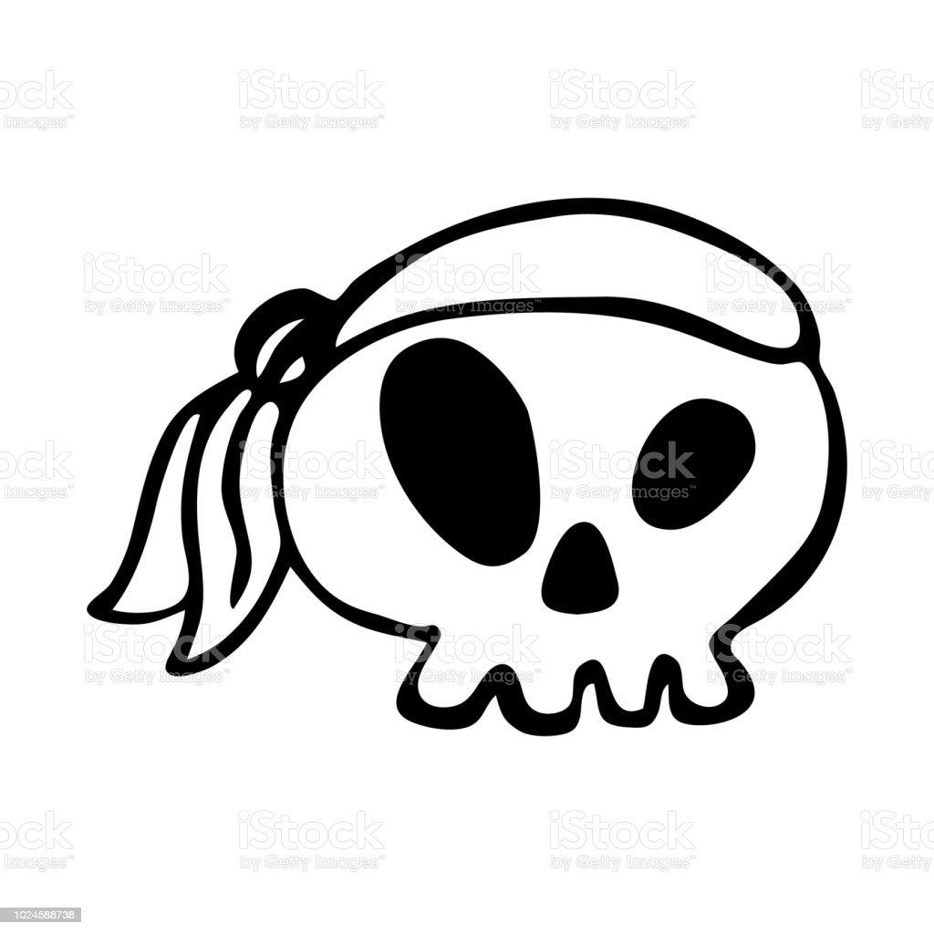 Ilustración De Calavera Pirata Elemento De Diseño Para La Decoración