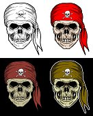 Pirate Skull hand drawing