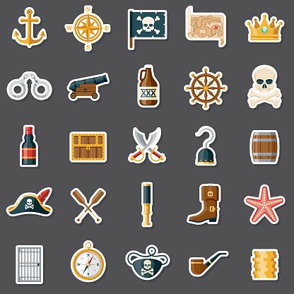Pirate Sticker Set