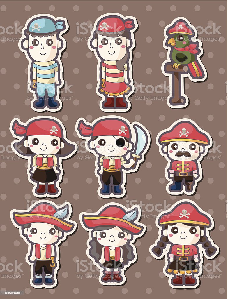 pirate stickers royalty-free stock vector art