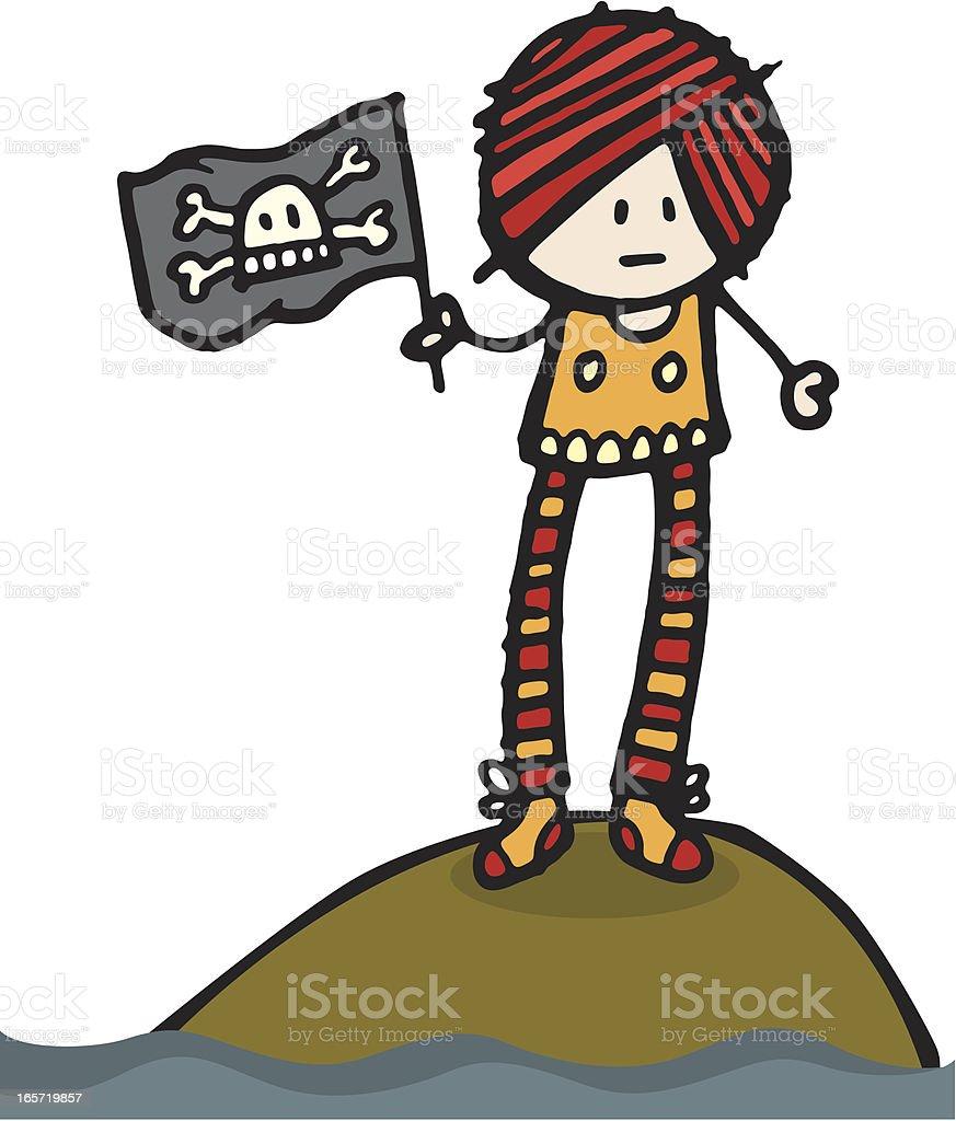 Pirate stood on island royalty-free stock vector art