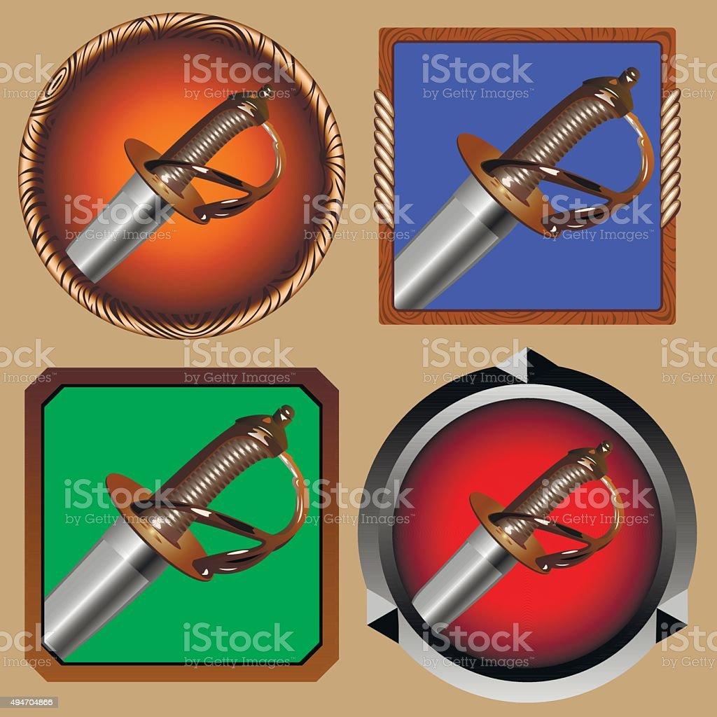 Pirate Sword Royalty Free Stock Vector Art Amp