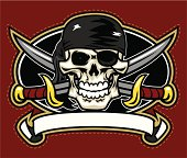 This Pirate design has been created with all separate elements for easy alteration and design.