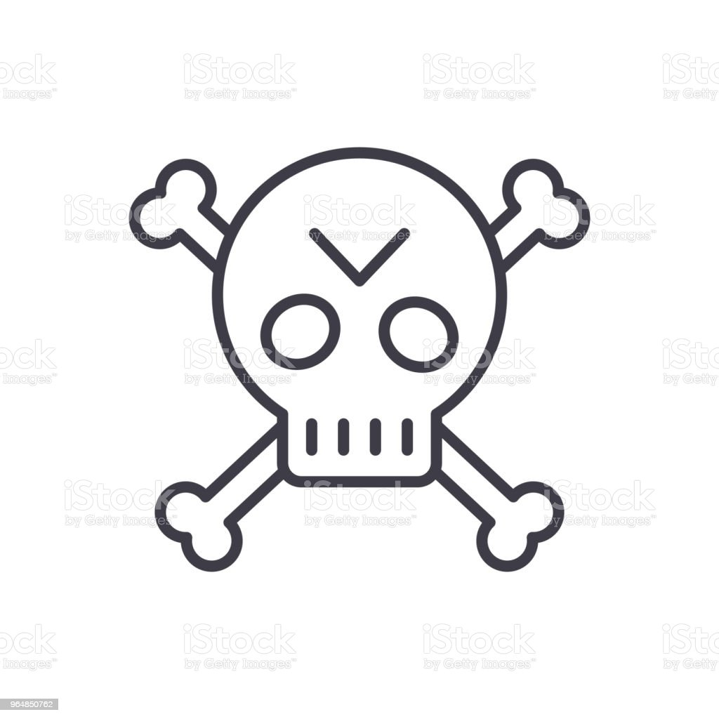 Pirate symbol black icon concept. Pirate symbol flat  vector symbol, sign, illustration. royalty-free pirate symbol black icon concept pirate symbol flat vector symbol sign illustration stock vector art & more images of adventure