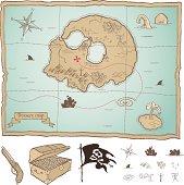 Fully editable Treasure map.