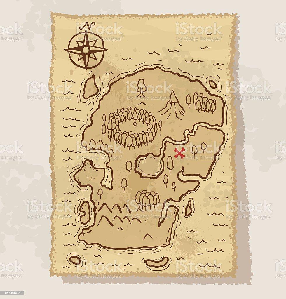 Pirate treasure map vector royalty-free stock vector art