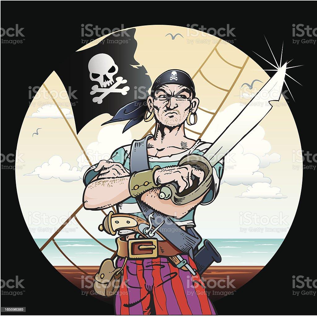 Pirata ilustración de pirata y más banco de imágenes de animal libre de derechos