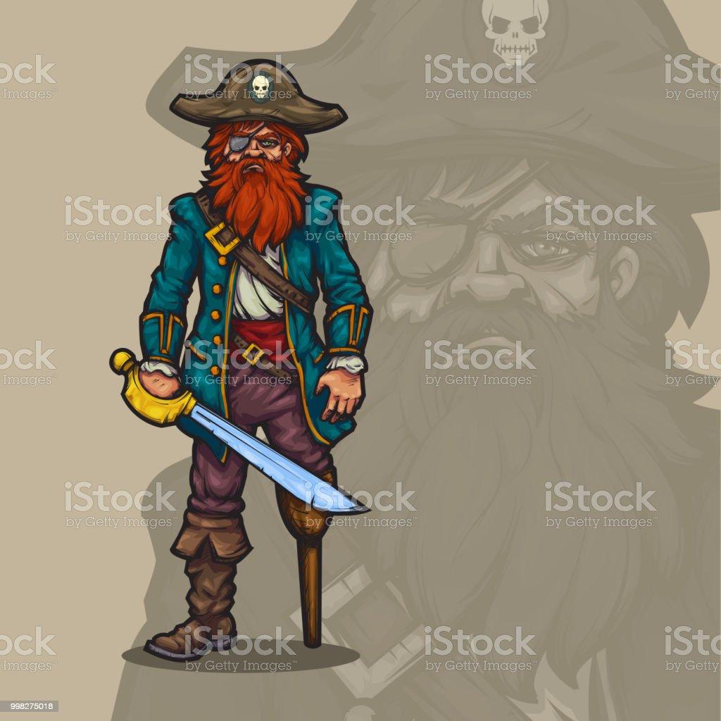 Pirate. vector art illustration