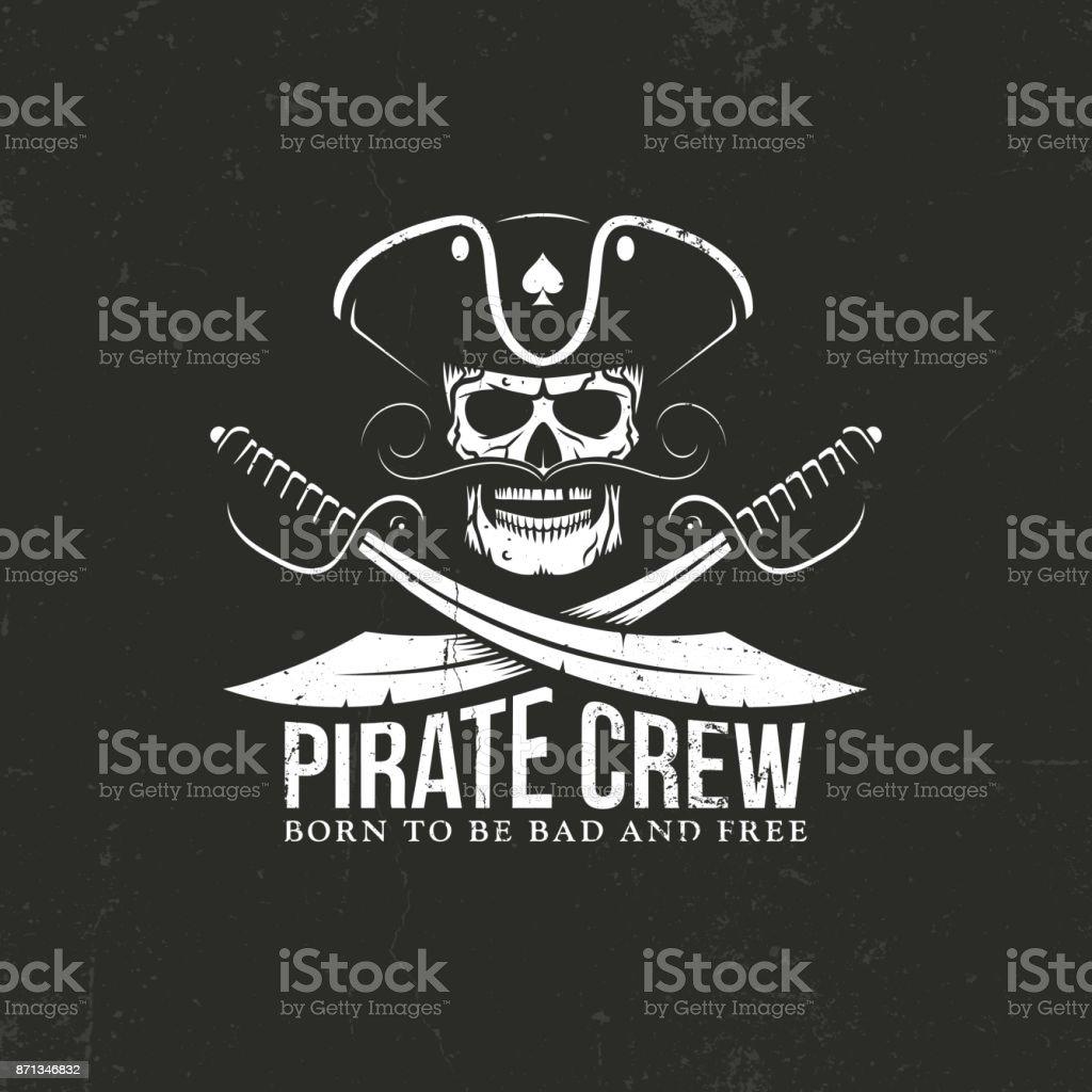 Tripulación de piratas - ilustración de arte vectorial