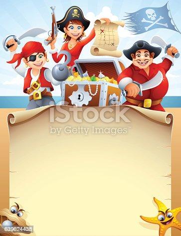 Pirates Crew with Treasure Chest