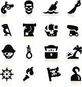 Pirates icons set Elegant series