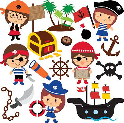 Pirates Kids Clip Art Stock Illustration - Download Image ...
