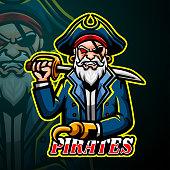 Vector illustration of Pirates mascot design
