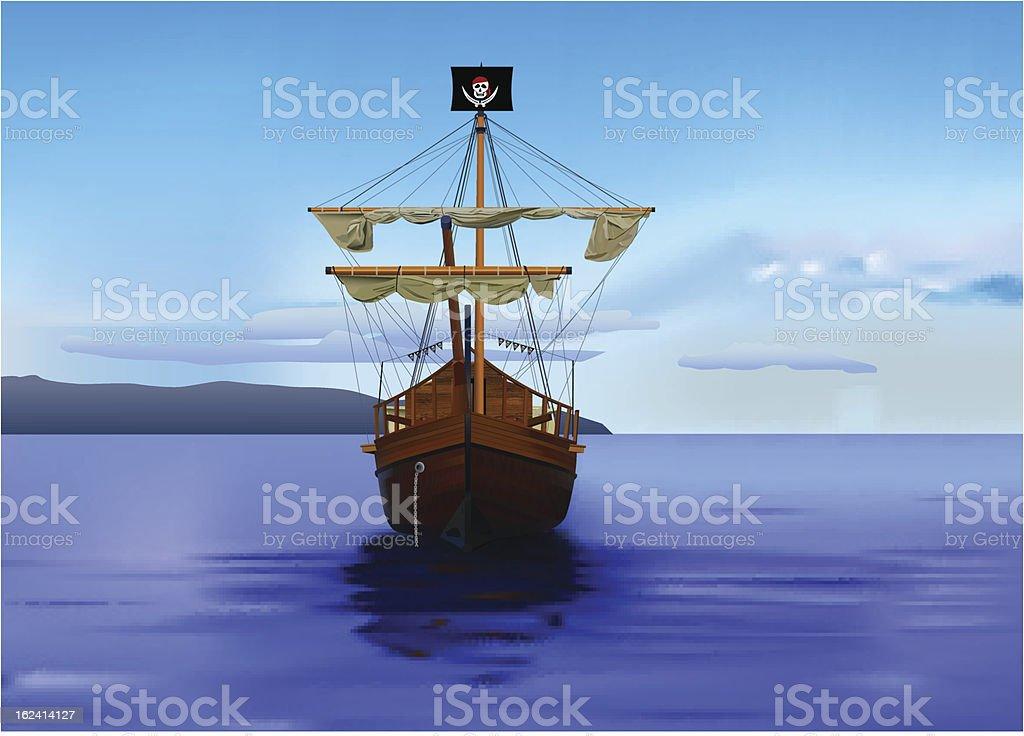 pirates ship royalty-free stock vector art
