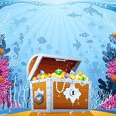 istock Pirate's Treasure under the Sea 640226146