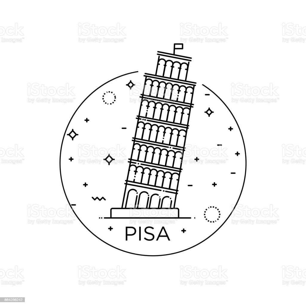 Pisa Tower icon Vector Illustration on the white background royalty-free pisa tower icon vector illustration on the white background stock vector art & more images of architecture