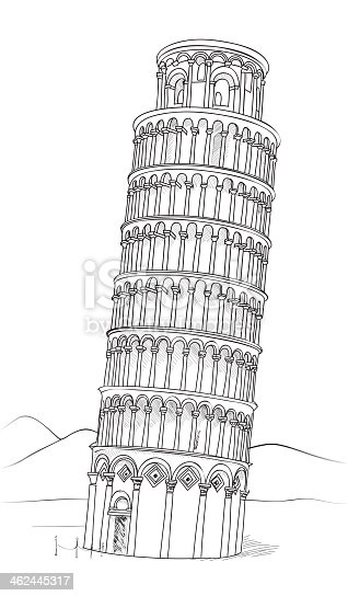 Leaning Tower of Pisa, Italy, Europe. Travel destinations cityscape.