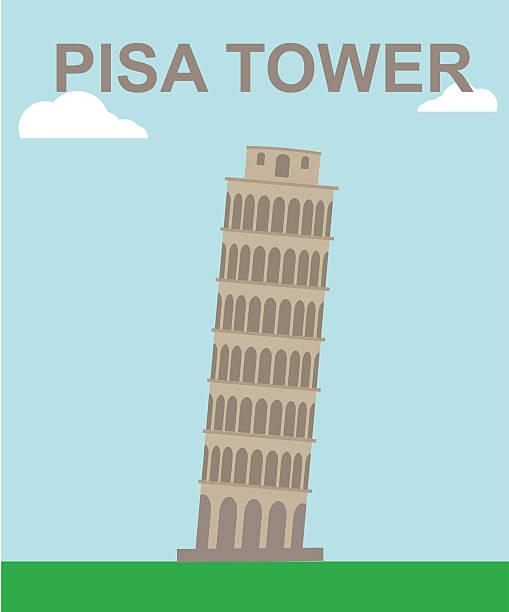 stockillustraties, clipart, cartoons en iconen met pisa tower - pisa