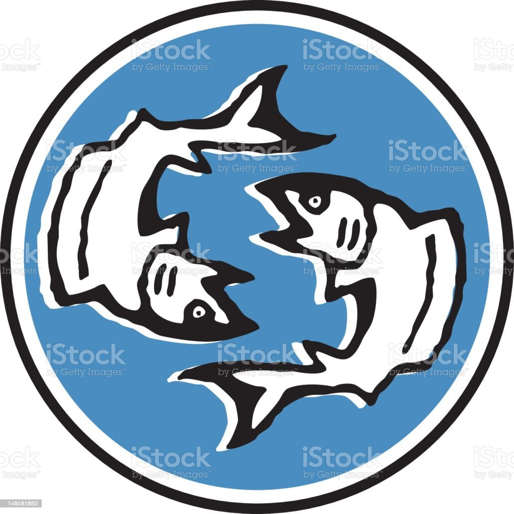 pisces - 12/12 vector art illustration
