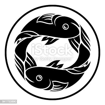 Pisces Fish Zodiac Horoscope Sign Stock Vector Art More Images Of