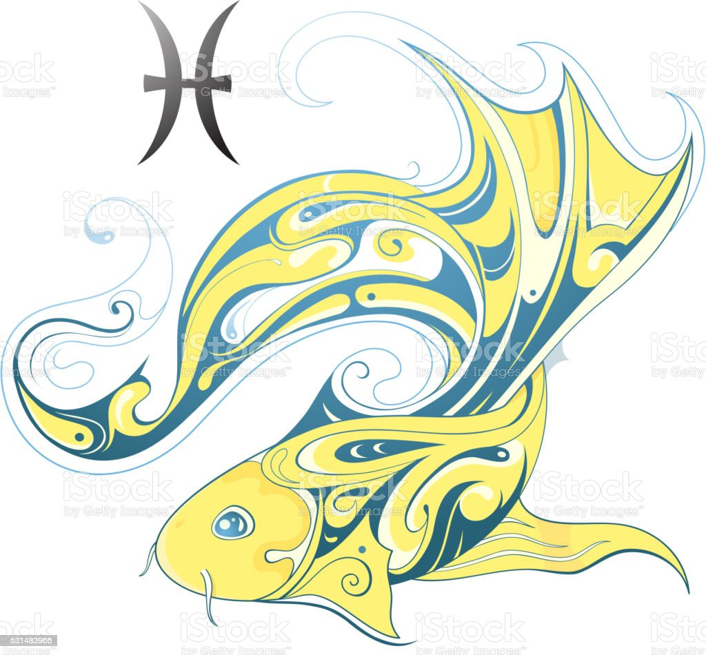 Pisces Horoscope Sign Stock Illustration - Download Image Now - iStock