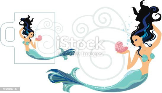 The Zodiac Sign Pisces translated as a beautiful mermaid.