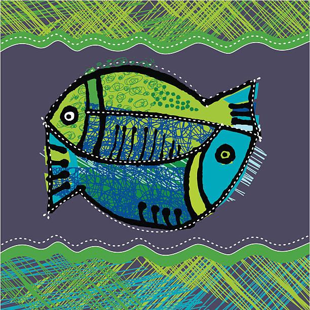 ilustraciones, imágenes clip art, dibujos animados e iconos de stock de piscis - tintanegra00