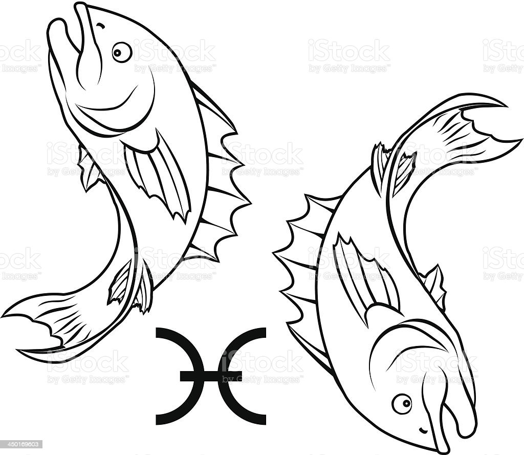 Pisces zodiac horoscope astrology sign royalty-free pisces zodiac horoscope astrology sign stock vector art & more images of animal