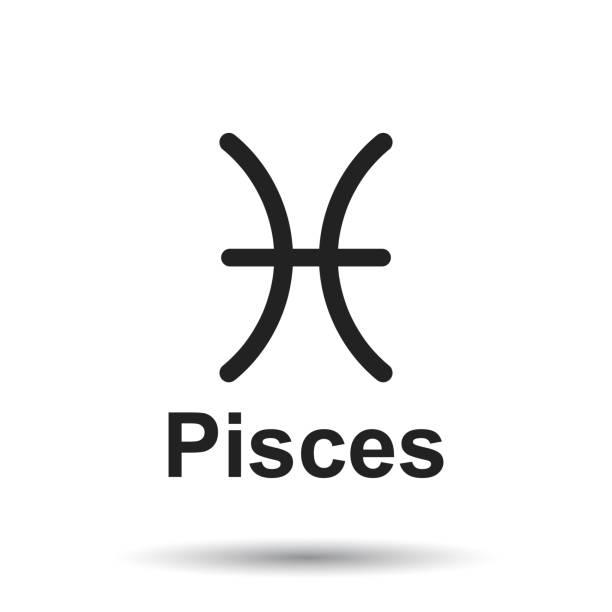illustrations, cliparts, dessins animés et icônes de signe du zodiaque. illustration vectorielle de l'astrologie plat sur fond blanc. - pisces zodiac